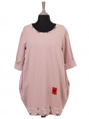 Italian Red Label Lagenlook Top With Pleated Panels
