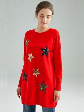 Italian Sequin Stars Knitted Jumper
