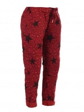 Italian Star & Leopard Print Magic Pants