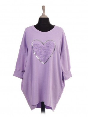 Italian Tape Embroidered Flowers and Heart Sequin Top