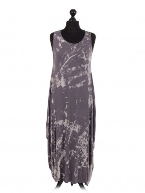 Italian Tie & Dye Print Lagenlook Dress
