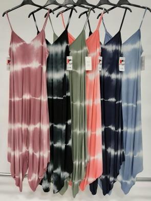 Italian Tie Dye Print Strappy Jumpuit