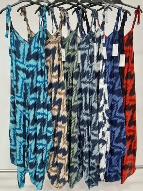Italian Tie Straps Zig-Zag Print Jumpsuit
