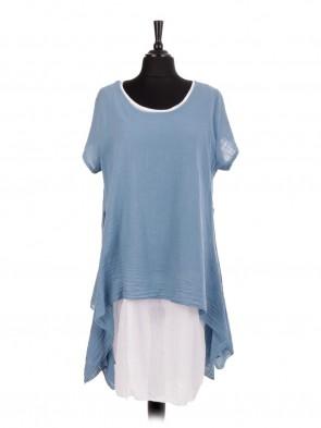 Italian Two Layered Cotton Tunic Dress