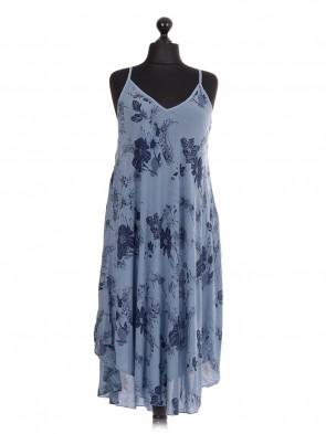 Italian Layered Strapy Asymmetrical Hem Dress