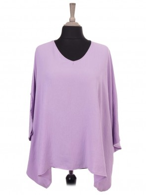 Italian V-neck Batwing Tunic Top