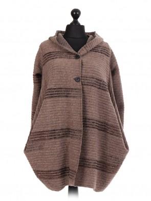 Italian Wool Hooded Coat