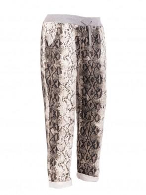 Large Italian Snake Print Trouser