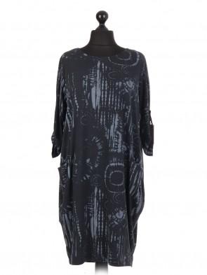 Italian Tie & Dye Print Lagenlook Dress