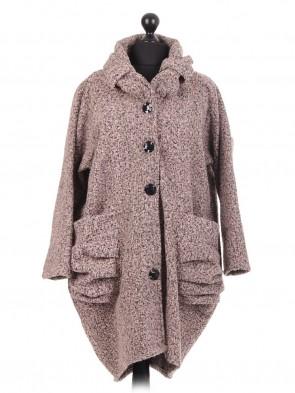 Italian Lagenlook Lana Wool Coat