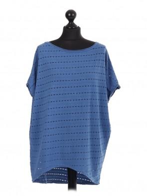 Ladies mesh Hole Cotton Baggy Top