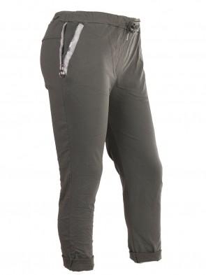Plus Size Italian Zipped Pockets Magic Pants