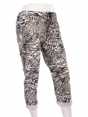 Plus Size Italian Animal Print Magic Pants
