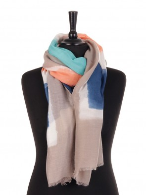 Tie & Dye Print Cotton Scarf